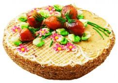 Торт песочно-абрикосовый