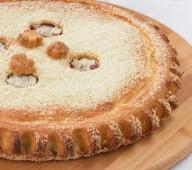 Пирог с яблоками и брусникой, 1кг.