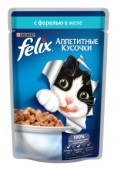 Корм для взр-х кошек FELIX c форелью в желе