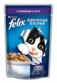 Корм для взр-х кошек FELIX c ягненком в желе