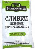 Сливки Питьевые пастеризованные 10% 200 гр.