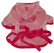 Ветровочка велюр розовая с бантиком арт. JA-010