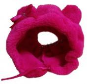 Зимняя шапочка для собаки розовая