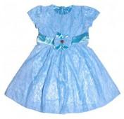 Платье нарядное, голубое