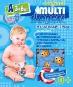 Многоразовые подгузники-трусики Multi-Diapers A, 1 шт, 3-6 кг.