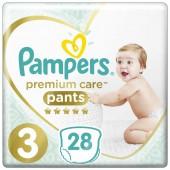 Трусики Pampers Premium Care Pants 3 размер, 28 шт, 6-11 кг.